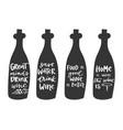 wine bottles doodle set hand vector image vector image