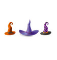 witch hats set isolated on white background vector image