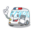 with phone ambulance character cartoon style vector image