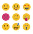 emoticon emoji set vector image