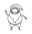 outlined santa claus christmas celebration image vector image