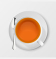 3d realistic white porclean ceramic tea vector image vector image