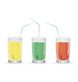 a glass of juice with a realistic vector image vector image