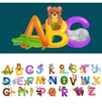 Abc animal letters for school or kindergarten vector image