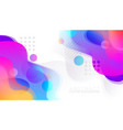 abstract colorful fluid background vector image vector image