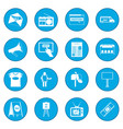 advertisement icon blue vector image vector image