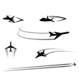 Airplanes and jets symbols for aviation design vector image vector image