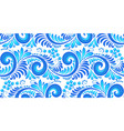blue curly seamless pattern tile in russian gzhel vector image