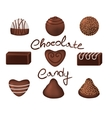 Chocolate candies set vector image vector image