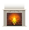 classic fireplace vector image