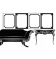 Classic wall frames and furniture vector image vector image