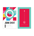 Clean Style Business card with colorful triangles vector image vector image