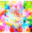 Colorful background for Holi celebration vector image vector image