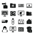 Criminal activity icons set simple style vector image vector image