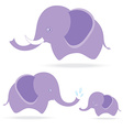 cute elephant family cartoon drawing thailand vector image vector image