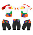 cycling vest sports low poly style vector image vector image