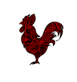 Decorative cock vector image