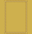 decorative luxurious golden frame on golden vector image vector image