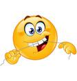 dental floss emoticon vector image vector image