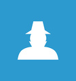 detective icon white on the blue background vector image