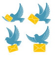dove delivers mail vector image