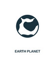 earth planet icon flat style icon design ui vector image vector image
