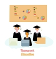 Education teamwork infographics template vector image vector image
