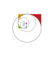 fibonacci sequence circle golden ratio logo icon vector image