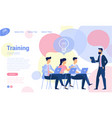 flat design business traning vector image vector image