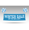 floating winter sale discount banner with balloons vector image