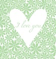 Flowers background with heart vector image vector image