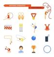 Gymnastics Icon Flat vector image