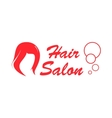 hair salon red icon vector image vector image