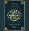 invitation classic template card design vector image