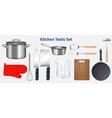 kitchen utensils transparent set vector image