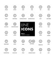 line icons set currency market vector image