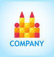 logo for toy shop toy castle of cubes vector image vector image