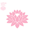 Lotus Abstract flower on white background vector image
