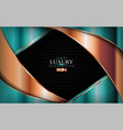 luxury background with shinny tale green and vector image vector image