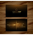 luxury premium golden business card template vector image vector image