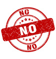no red grunge round vintage rubber stamp vector image vector image