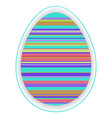 paper card template with multicolor striped easter vector image
