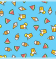 pattern ice cream watermelon slice fruit vector image