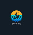 people surfing logo silhouette abstract vector image vector image