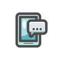 phone message dialog icon cartoon vector image