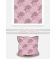 Pillow With Pink Floral Pattern vector image vector image