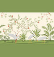 pretty delicate exotic chinoiserie design vector image