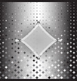 rhombus custom silver halftone abstract background vector image vector image