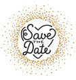 save date invite greeting card template with vector image vector image