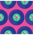 Seamless Vinyl Record Pattern Icon vector image vector image